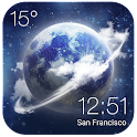HD Transparent Weather Clock icon