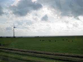 Photo: Out in the country on the way to Marken. The IJsselmeer is in the distance.