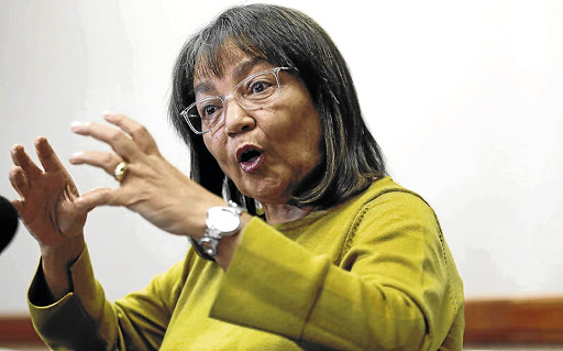 Fighting back: Cape Town mayor Patricia de Lille addresses a media conference in Cape Town after she was ousted as a member of the DA. Picture: SUNDAY TIMES