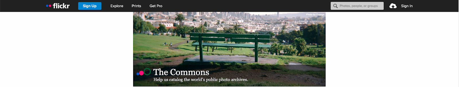 Flickr Commons page screengrab