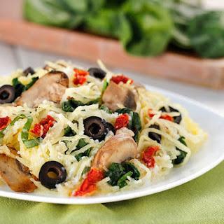 Creamy Mediterranean Spaghetti Squash.