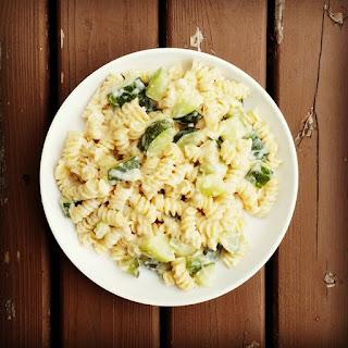 Parmesan Cheese Sauce and Zucchini Pasta