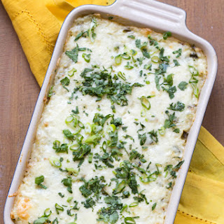 Corn + Poblano Cheesy Rice Casserole