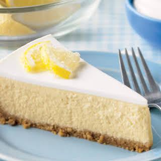 Lemony Sour Cream Cheesecake.