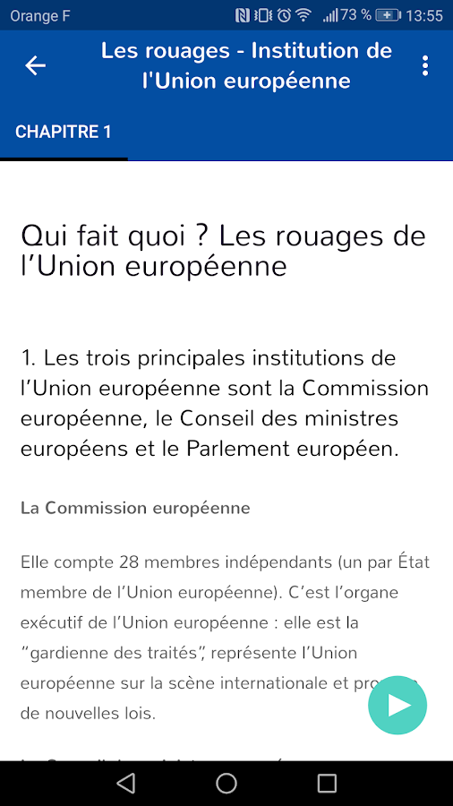 Euroscola - Quiz sur l'Europe- screenshot