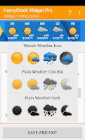 Screenshot of FancyClock Widget Free
