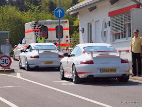 Photo: Porsche im Doppelpack! Blue and Red.