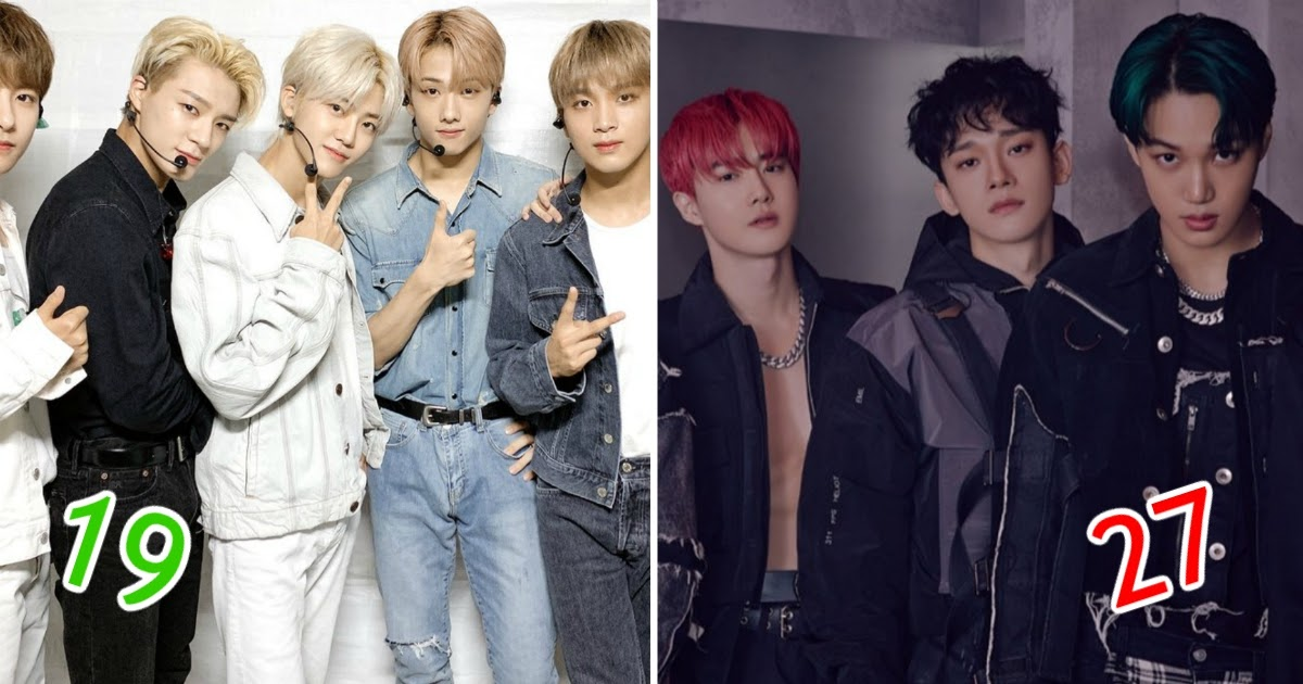 Here Are The Youngest And Oldest Of 33 Male K Pop Groups Based On Their Average Member Age Koreaboo