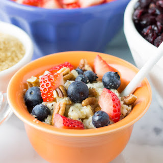 Steel Cut Oats Recipe and Toppings Bar