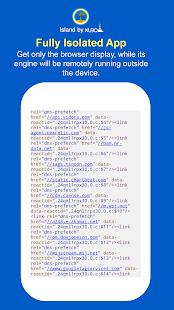 Island Secure Browser - náhled