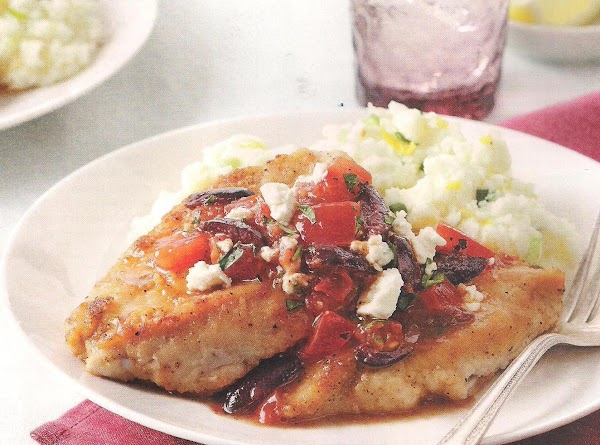 Greek Chicken Cutlets With Tomatoes And Olives Recipe
