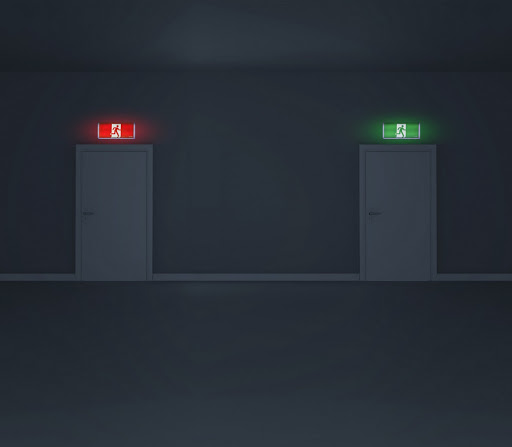 If red means emergency, why are exit signs green?
