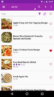 Sbírka receptů : RecetteTek - náhled