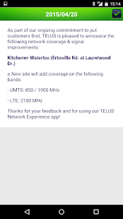 TELUS Network Experience- screenshot thumbnail