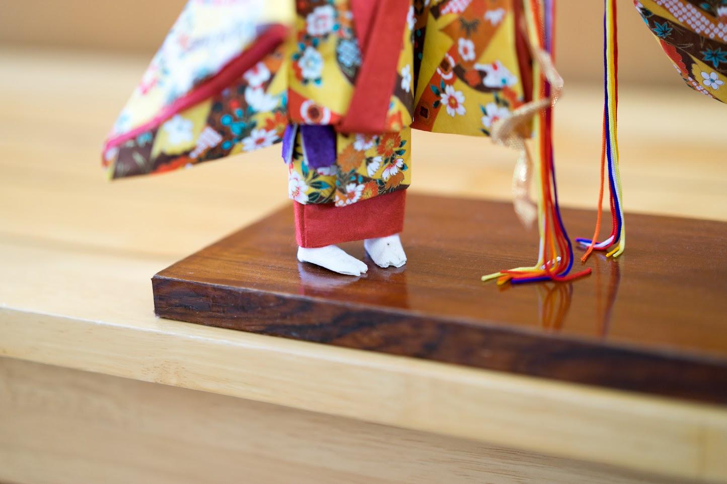 和紙人形:琉球舞踊