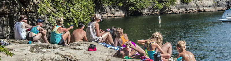 Photo: Hanging out in the Cove at Niquette Bay State Park by Kristen Jensen