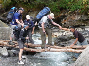 Photo: River crossing before Chutanga