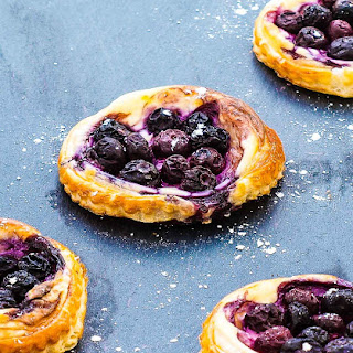 Zesty Blueberry And Cream Cheese Pastry Puffs.