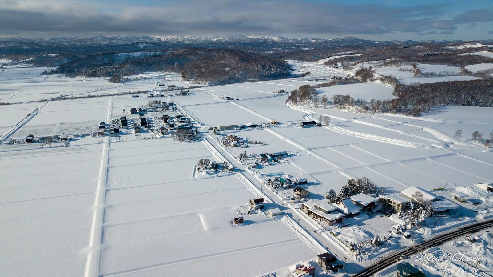 北竜町の雪景色