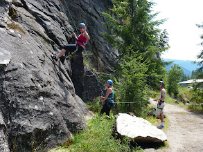 Photo: Learning how to belay at Slocan bluffs