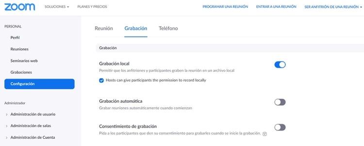 Desde la versión desktop también se pueden administrar varios permisos.