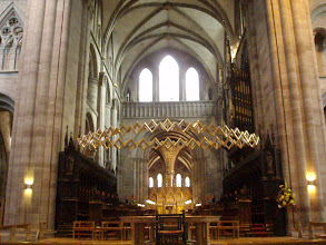 Photo: Hereford Cathedral interior.