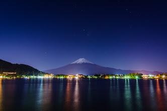 Photo: Mt Fuji at Twilight on the shores of Lake Kawaguchiko
