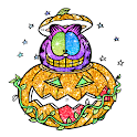 Halloween glitter color by number- Coloring Book icon