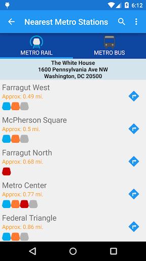 DC Metro Transit Info - Free screenshot 5