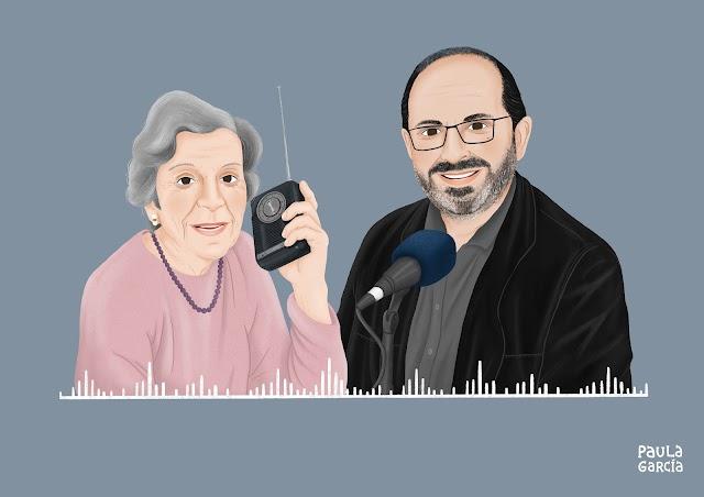 Hijo habla por la radio para que madre le escuche.