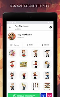 Stickers de México  para WhatsApp - WAStickerApps Screenshot