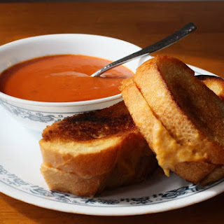 Grilled Cheese And Tomato Soup.