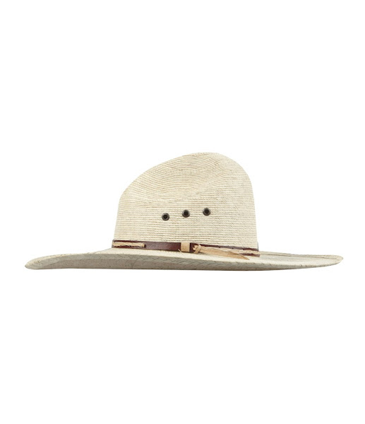 Photo: Ranger Straw Hat>>  UK>http://bit.ly/MVe2go  Straw rangers style hat with leather cotton trim.  Circumference:  S/M: 54cm  M/L: 56.5cm