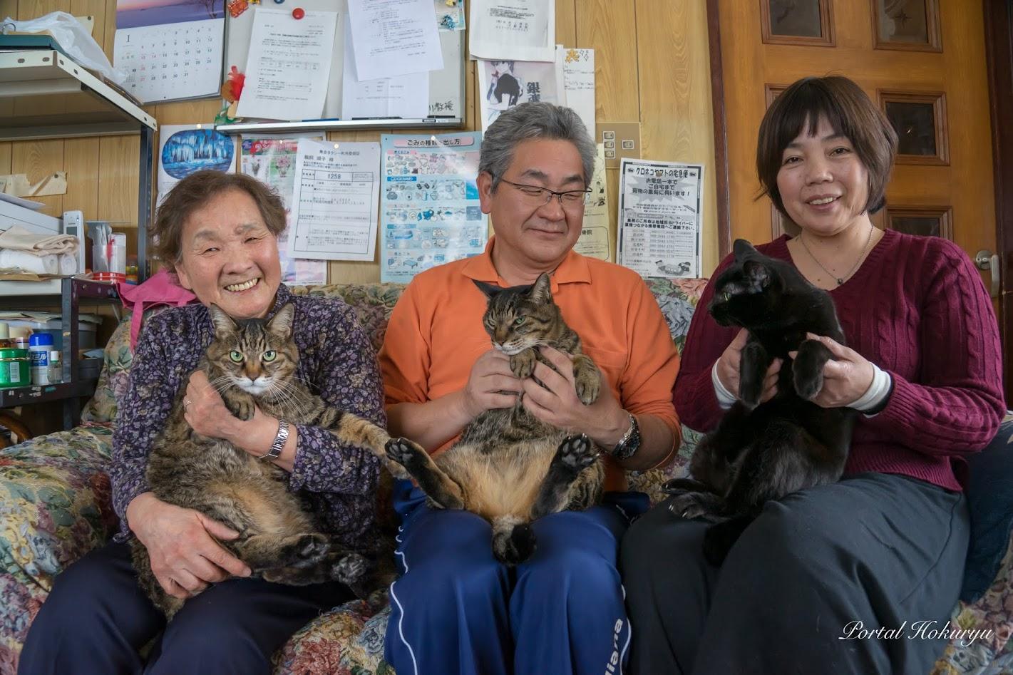 順子さん(77)、孝志さん、喜美子さん