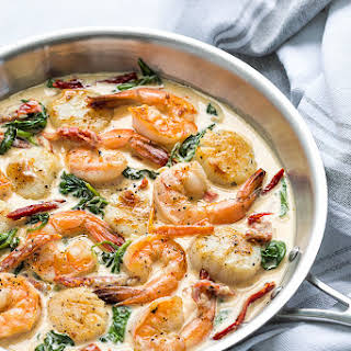 Shrimp Chicken Scallop Pasta Recipes.