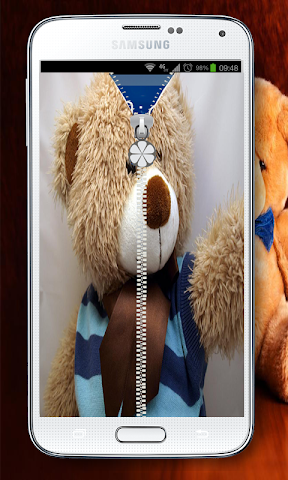 android best teddy Zipper Lock Screenshot 2