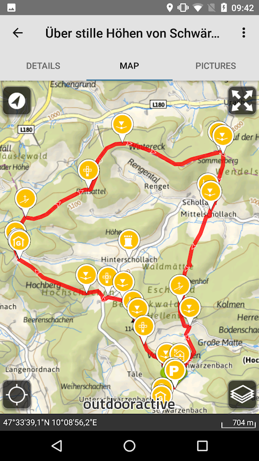 Hiking & biking in SW Germany- screenshot
