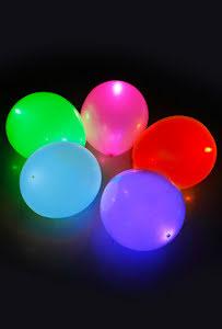 LED ballonger, färgade