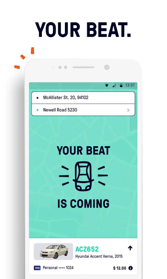 Beat - Ride app- screenshot