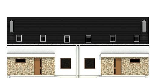 Sosnówka bez garażu bliźniak B-BL2 - Elewacja przednia