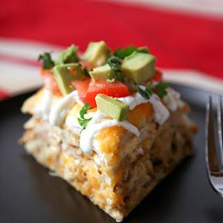 Easy Chicken Tortilla Stack
