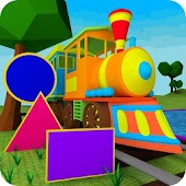 Learn Shapes - 3D Train Game For Kids & Toddlers