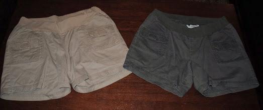 Photo: Khaki and Olive Green Maternity Shorts. Motherhood Maternity size XL $5 each.