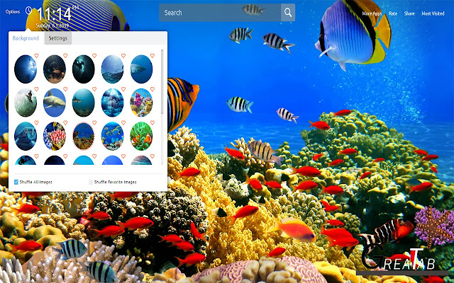 Underwater Wallpapers Theme |GreaTab