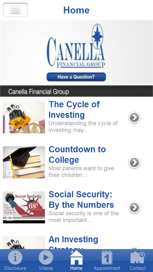 Canella Financial Group- screenshot