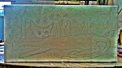 Photo: 115/366 - pencil on canvas (HDR filtered)