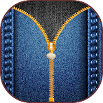 Jeans Zipper Screen Lock Icon