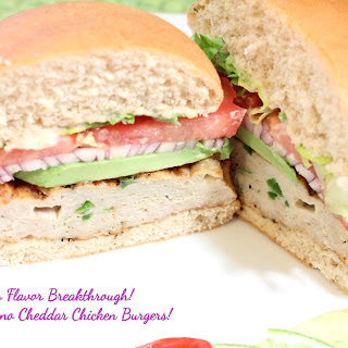 Jalapeno Cheddar Chicken Burgers!
