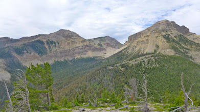 Photo: View of Crown (right) as I took a little side-trip up an unnamed peak on the way down.