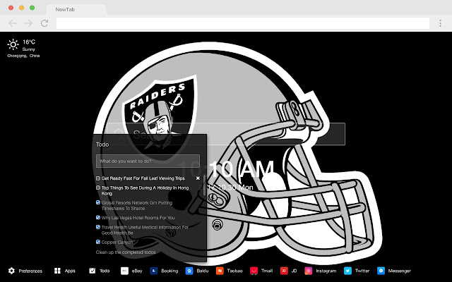 Oakland Raiders New Tabs HD Football Themes